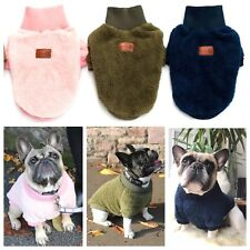 Allbreeds Fleece Dog Jumper High Neck Winter Coat Puppy French Bulldog Jacket