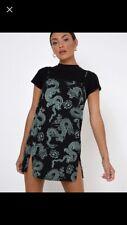 Motel Rocks Black And Mint Dragon Print Dress
