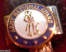 2- National Guard Metal Cribbage Pegs ChristyMade USA Free Velvet Pouch ~