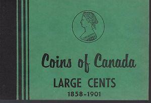 Large Cents 1858-1901 Coins of Canada Meghrig Album Folder NOS 12 unmarked slots
