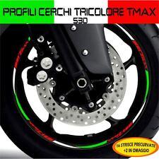 PROFILI CERCHIO TRICOLORE ITALIA WHEEL TMAX T-MAX 530 E ADESIVO ADESIVI