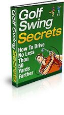 Golf Swing Secrets plus FOUR other Golf eBooks on 1 CD - FREE Post & Packaging
