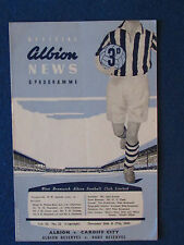 West Bromwich Albion v Cardiff City - 26/12/60- Programme inc Bury Reserve match