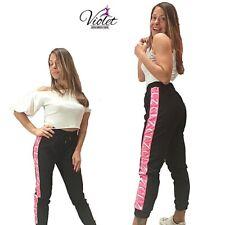 Pantaloni tuta donna con elastico in vita e laccetto regolabile sportiva Casual