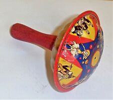 Vintage Children Kids Noise Maker US Metal Toy MFG Co. NY Party Circus Themed
