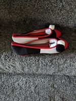 Lola Ramona Rinna Ballerina Pump Flat Red Black White Ladies Womens Dress Shoes