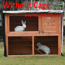 New listing Bunny Ferret Chicken Rabbit Coop Pet Cage Hutch Cover WaterProof Without Cage Us