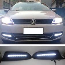 2x Daytime Running Lights Xenon white LED DRL For Volkswagen Jetta 2011-2014