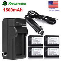 4x NP-FW50 Battery+Charger For Sony A5000 A3000 A7s A7R A6000 NEX-3 NEX-3N NEX-6