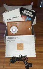 Grundig World Receiver G-2000A AM FM Radio Porsch Design Leather Case & Manuals
