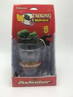 "Retired Bud Budweiser Talking Frog Beer Mug ""Bud-Weis-Er"" (1997)"