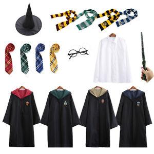 Harry Potter Gryffindor Slytherin School Uniform Magic Robe Cosplay Costumes Set