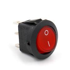 SOKEN Wippschalter 250V 6A Ein/Aus Rot Beleuchtet Kippschalter 3Pin UL VDE TüV
