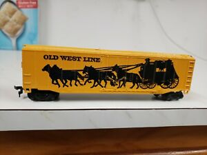 HO Scale Bachmann Old West Line Boxcar