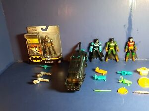 DC Spin master batman Caped Crusader lot figures accessories and Moto-tank
