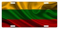 LITHUANIA Flag Custom License Plate NATIONAL Emblem WAVE Version