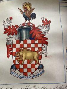 Grant of Arms to Leslie Francis Merriday 1956, Elizabeth II
