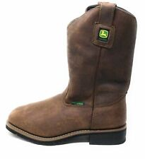 John Deere Womens JD3771 Mid Calf Pull On Boot Brown Size 11 Wide
