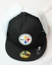 Pittsburgh Steelers NFL Dogear Ajustada Gorra Sombrero Negro Tamaño 7.25 f3366ee97b4
