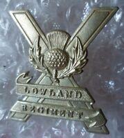 VINTAGE Lowland Regiment Brigade Cap Badge WM 2 Lugs Genuine/Original