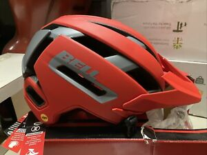 ! Bell Super Air Flex+ MIPS Adult Large Bicycle Bike MTB Helmet Red Gray