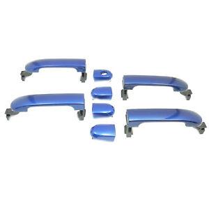 For 07-2012 Nissan Versa Metallic Blue Line B17 Set 4PCS New Outside Door Handle