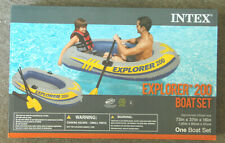 Intex Explorer 200 Boat Set Inflatable River Raft & Oars 58331MW New
