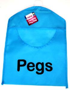 Fabric Peg Bag Clothes Line Laundry Washing Basket Storage Pouch Hanger