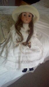"Sweet 25"" F&W Goebel for Max Handwerck Bisque Head Antique Doll circa 1900"