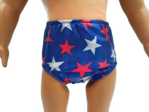 """Underwear Panties fits American Girl Doll  18"""" Doll Clothes Sparkly Patriotic"""