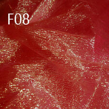 Fxx 1.2M wide Fancy Crinkle Organza Fabric Dress Decoration Gift Bag Material