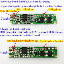 Battery BMS Protection PCB Board for 3/4 packs 18650 Li-ion lithium Battery Cell