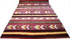 "Antique Vintage Turkish Handmade Hand-Knotted Kilim Rug 81""x 150"" pure wool #57"