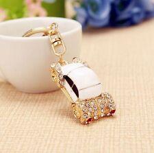 lovely car Key chain Keyring bag chain Rhinestone Charm Pendant Keyfob Keychain