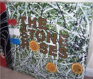 Stone Roses painting. Not a print.Canvas only but framing avail. Manchester art