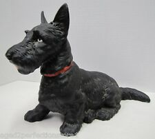 Old Large Cast Iron Sitting Scottie Dog Doorstop big htf 412 hubley door stopper