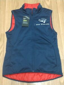 Women's Nike New England Patriots Red Navy Blue Reversible Puffer Vest Size XS