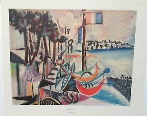 """PICASSO """"JUAN LES PINS"""" VINTAGE COLOR LITHOGRAPH DATED 1925"""