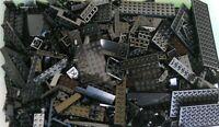 LEGO BLACK 1/4 lb Bulk Lot of Bricks Plates Specialty Parts Pieces Pounds