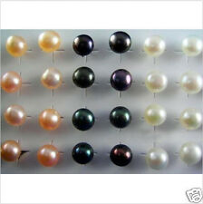 Wholesale 20 Pairs 925Silver Natural Pearl Ear Stud Earrings Fashion Jewelry NEW