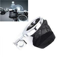 Motorcycle Handlebar Cup Holder Bottle Basket Net Bag for Sporster Electra Glide
