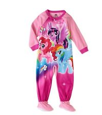 NWT Girls Size 3T My Little Pony Blanket Sleeper Footed Pajamas - Free Ship