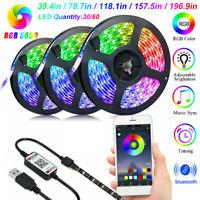 RGB LED Strip Lights IP65 Waterproof 5050 5M 300 LEDs 6V+Bluetooth Controller O