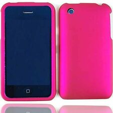 Hard Rubberized Case for iPhone 3G / 3GS - Hot Pink