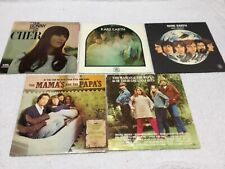 Cher Rare Earth Mamas and Papas Vinyl Record Lp Lot
