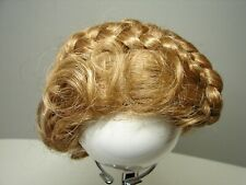 Doll Wig 12-13 Light reddish color style braided wrapped Vintage Mint New