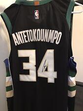 Giannis Antetokounmpo Signed Auto Nike NBA Swingman Jersey JSA COA Bucks MVP