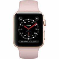 Apple Series 3 42mm Smartwatch - Gold Aluminum/Pink Sand (MQL22LL/A)