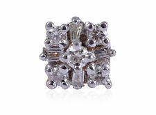 Gorgeous 0.17 Cts Natural Pave Diamonds Nose Stud In Solid Hallmark 18Karat Gold