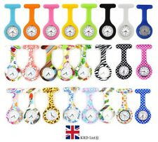 NURSE FOB WATCHES Plain Pattern Silicone Brooch Tunic Watch  B3 UK